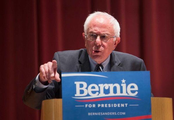 Democratic presidential nominee Sen. Bernie Sanders (D-Vt.) speaks