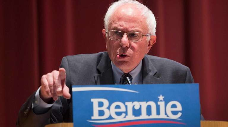 Democratic presidential nominee Sen. Bernie Sanders (D-Vt.) speaks