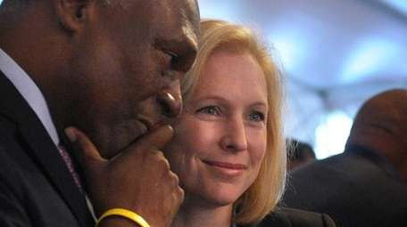 Assemb. Keith Wright with U.S. Sen. Kirsten Gillibrand