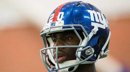 New York Giants cornerback Prince Amukamara (20) at