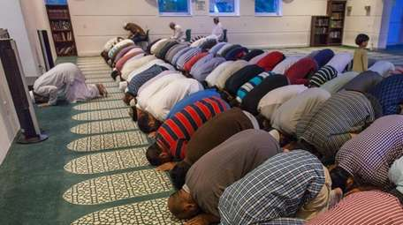 Ramadan observers gather at the Islamic Center of