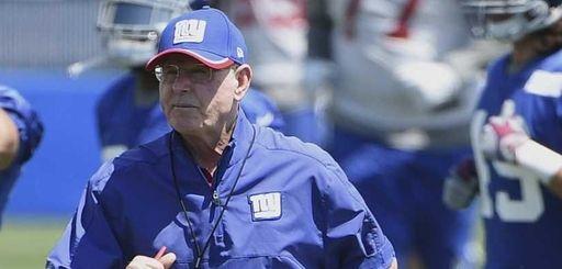 New York Giants head coach Tom Coughlin is
