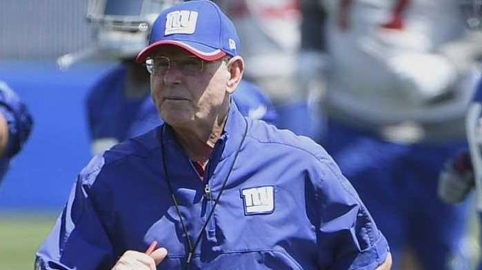 New York Giants head coach Tom Coughlin is