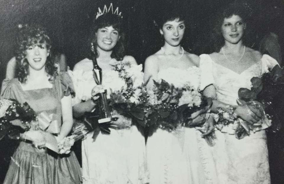 The queen, joined by her royal court, reigns