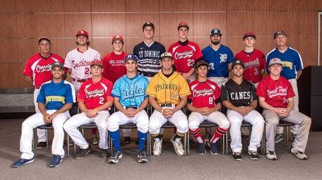 Newsday's 2015 All-Long Island baseball team poses at