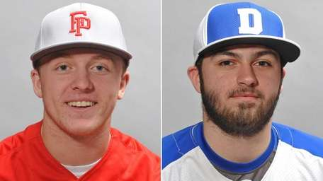 This Newsday composite shows Floral Park catcher Mitch