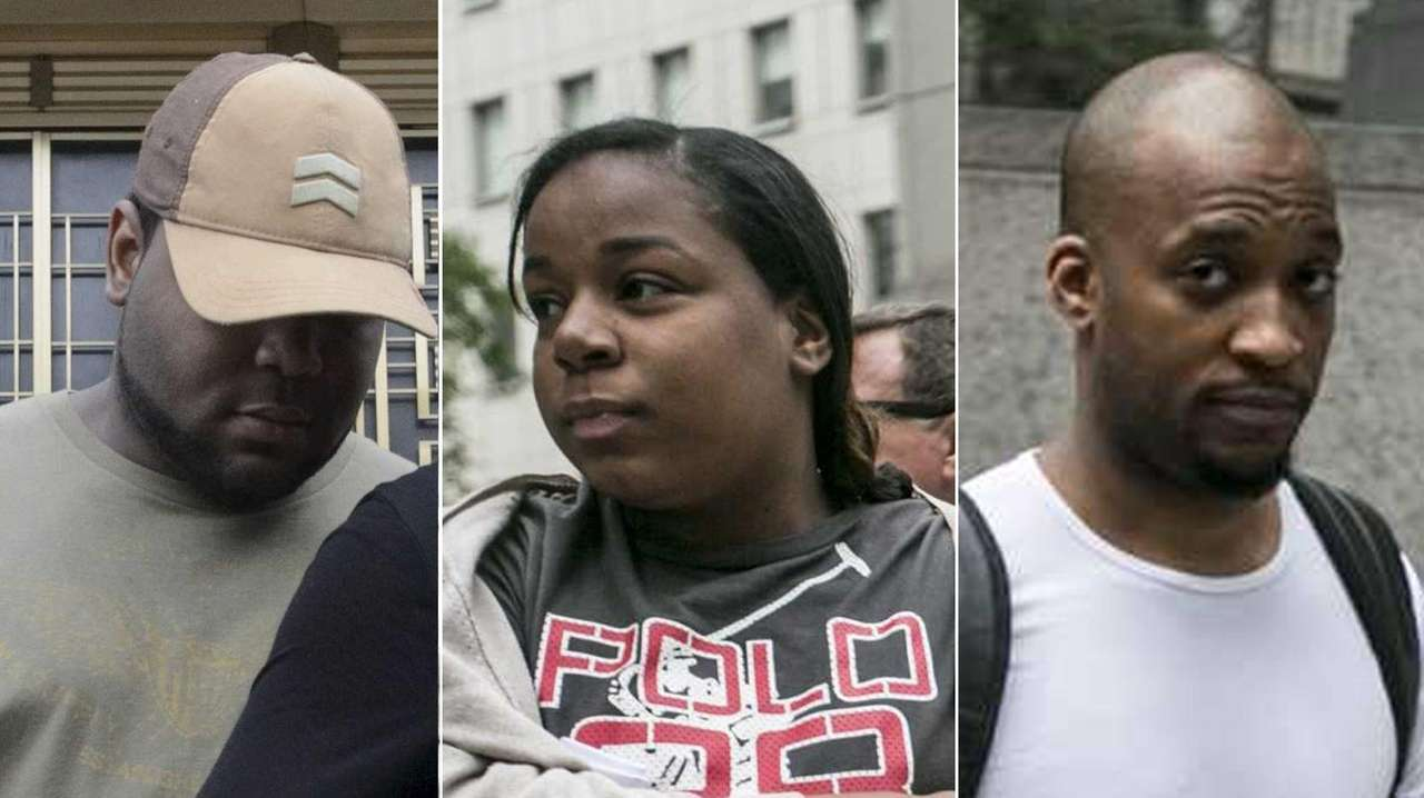 Manhattan postal workers Terry Jackson, Mahogany Strickland and