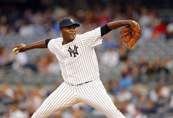 Michael Pineda of the New York Yankees pitches