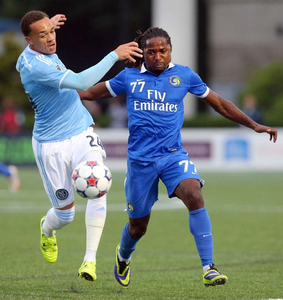 New York City FC defender Shay Facey and