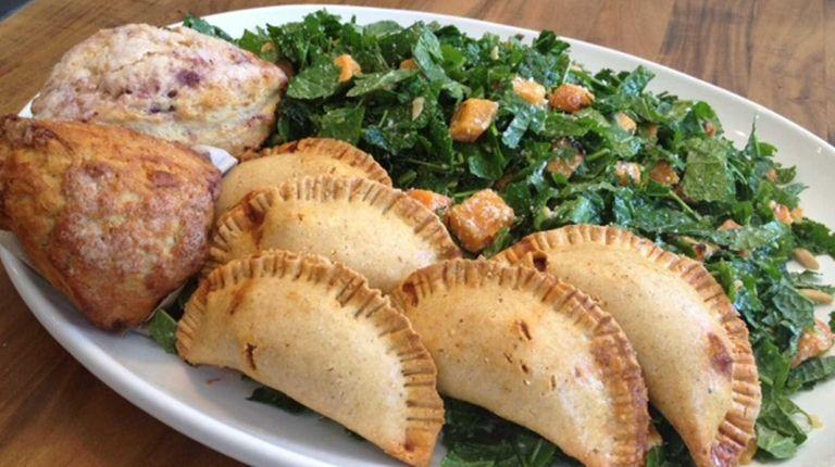 Kale salad made with biodynamic kale grown at