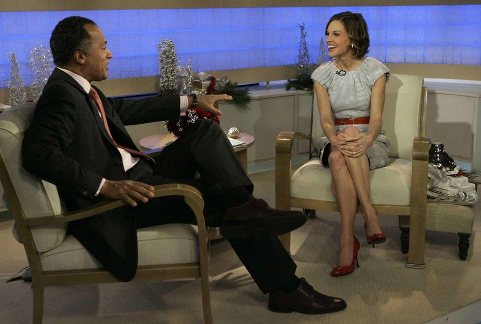 Two-time Oscar winner Hilary Swank is interviewed on