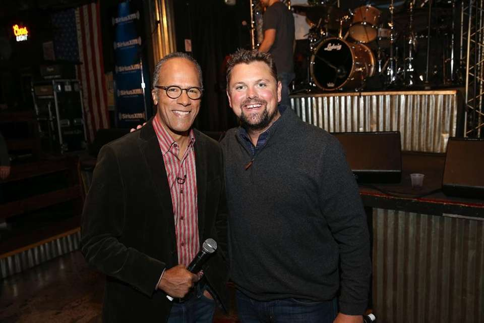 NBC news anchor Lester Holt and SiriusXM host