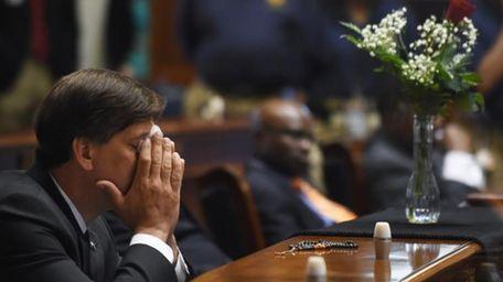 State Senator Vincent Sheheen (D-Kershaw) gets emtional as