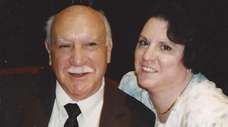 Matilda Russo of Bellport with her father, Nicholas