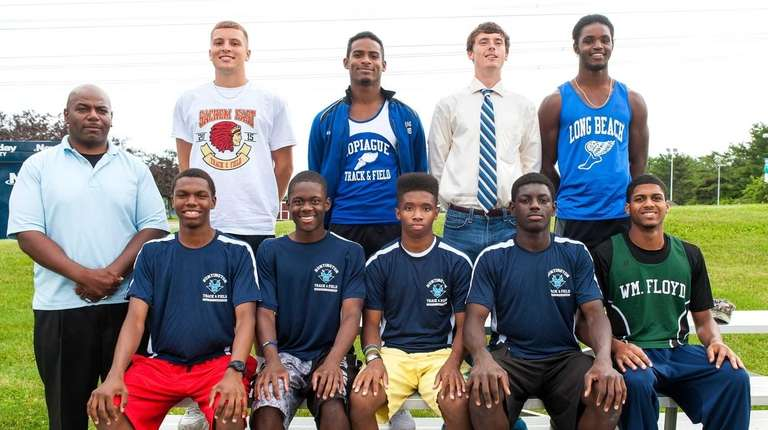 Newsday's 2015 All-Long Island boys track team poses