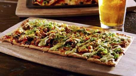 Crave-worthy flatbreads include a barbecue duck option at