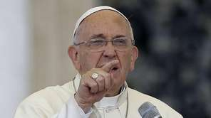 Pope Francis delivers his message on the occasion