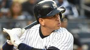 New York Yankees designated hitter Alex Rodriguez bats