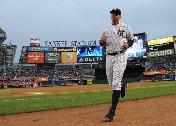 New York Yankees designated hitter Alex Rodriguez runs