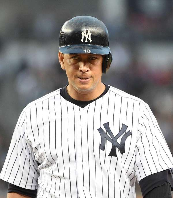 New York Yankees designated hitter Alex Rodriguez stands