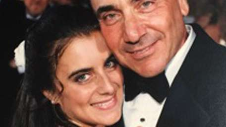Karin Greenberg of Dix Hills with her dad,