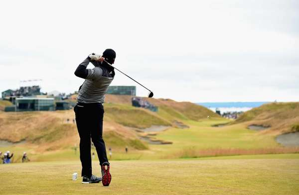 Jason Day of Australia hits his tee shot