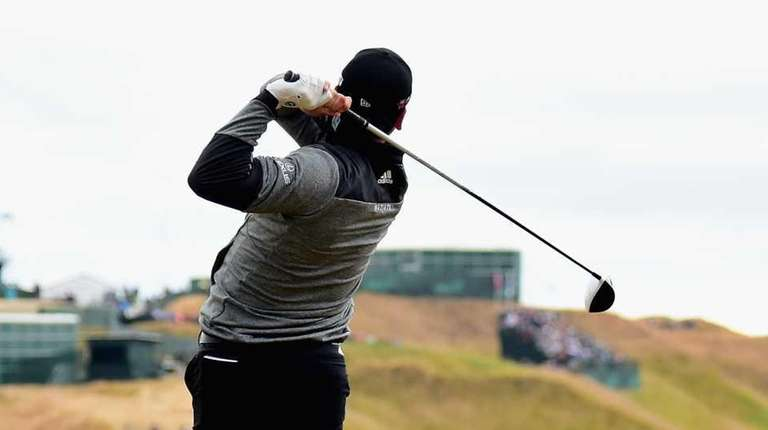 Jason Day of Australia hits his tee shot
