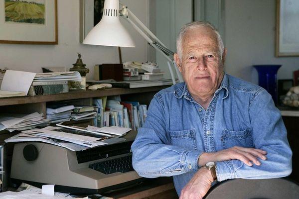 Author James Salter at his home in Bridgehampton