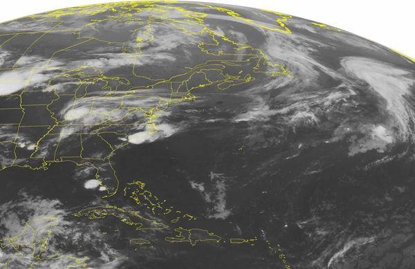 This NOAA satellite image taken Saturday, June 20,