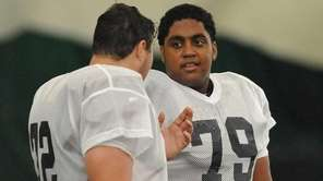 Long Island offensive lineman Ethan Greenidge of Riverhead,