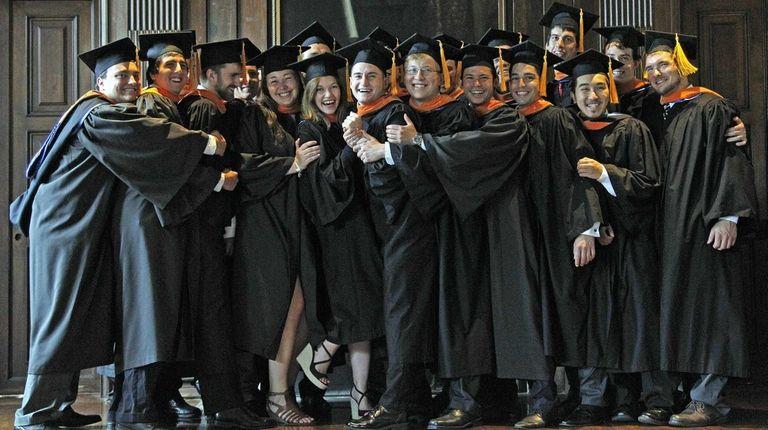 The Webb Institute 2015 graduating class celebrates on