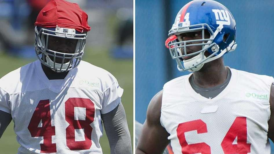 Former Stony Brook players and current Giants Will