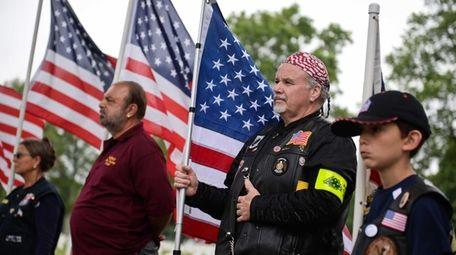 Mike Ronan of Baldwin stands with fellow members