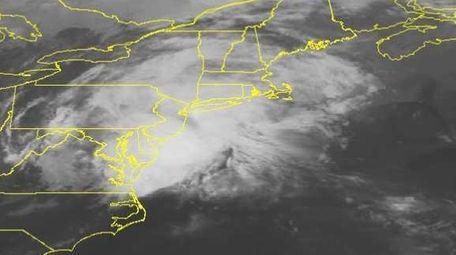 This NOAA satellite image taken Sunday, June 21,