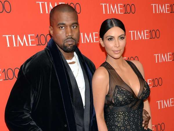 Kanye West and Kim Kardashian attend the TIME