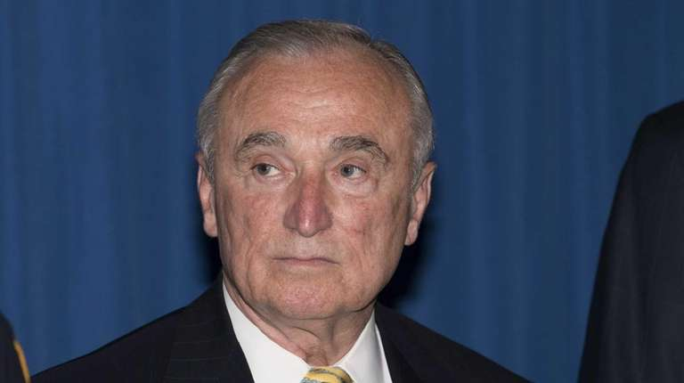 NYPD Police Commissioner William Bratton visits the 44th