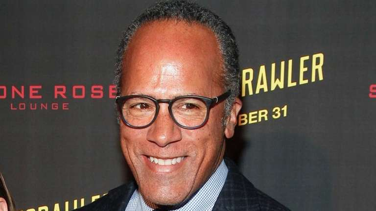 Lester Holt attends the New York premiere of