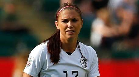 Alex Morgan #13 of the United States moves