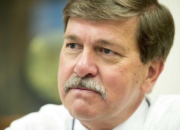 LIRR president Patrick Nowakowski sits at the LIRR