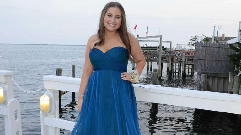 Herricks High School senior Amanda Breit enjoys her