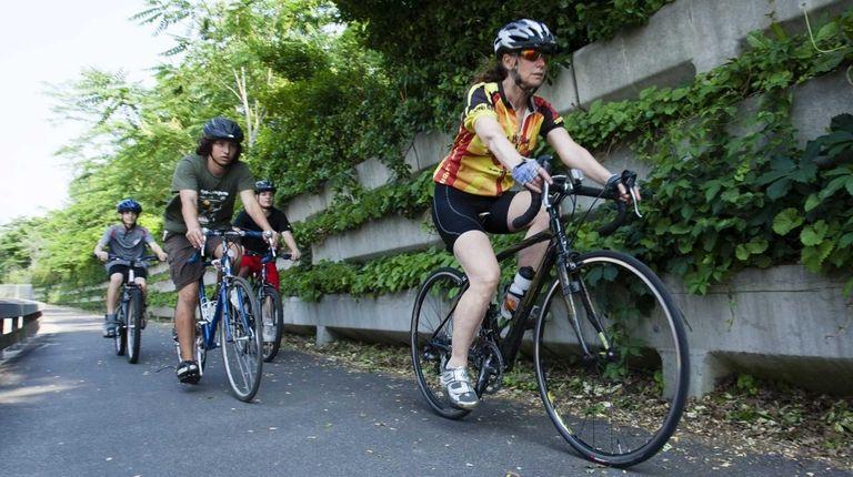 Madeleine Berg, 51, of Woodbury, nutritionist, triathlete, cycles