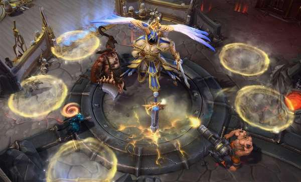 Screengrab from video game : game Heroes of