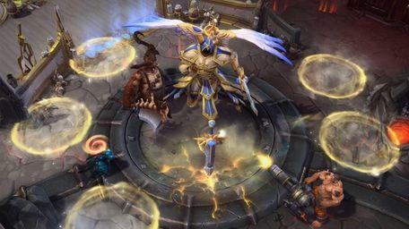 Screengrab from video game : game Heroes of