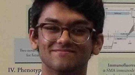 Abrar Nadroo, 17, a senior at Syosset High