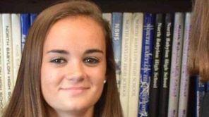 Margaret McKeever, 15, a freshman at North Babylon