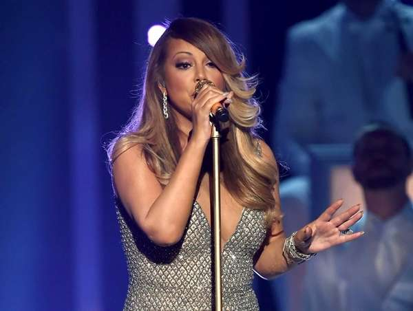 Mariah Carey performs during the Billboard Music Awards