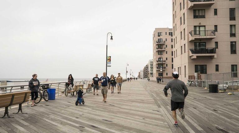 The Long Beach boardwalk was built in 1914,