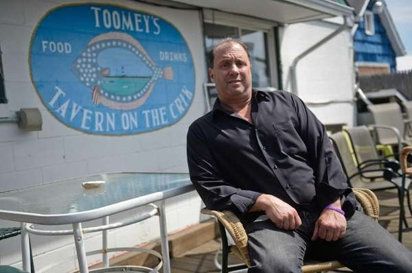 Reggie DeFilippo, owner of Toomey's Tavern in Amityville,