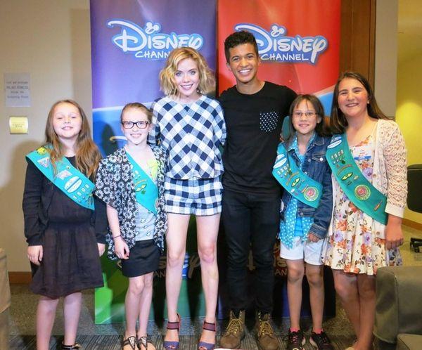 Kidsday reporters Emma Marvelli, Rhianna Leopold, Isabella Lefevbre,