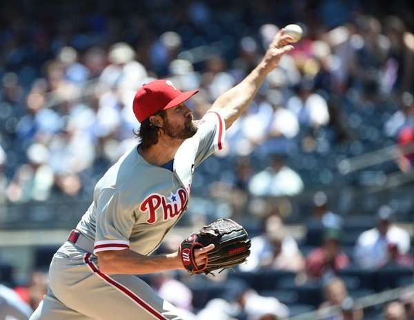 Philadelphia Phillies starting pitcher Cole Hamels delivers a